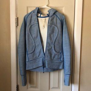 Blue striped lululemon hoodie